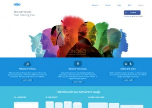 Flat design in Minneapolis. Great examples of flat design, ui, web design and graphic design. Rdio, flat site redesign