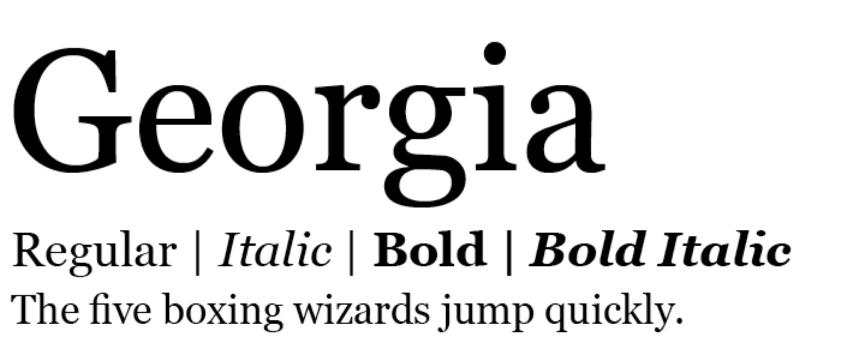 georgia-modern-serif-fonts