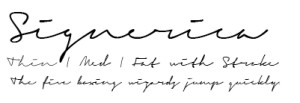 Signerica - - Script fonts for today, modern use.