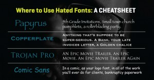 Most hated fonts, and where to use them