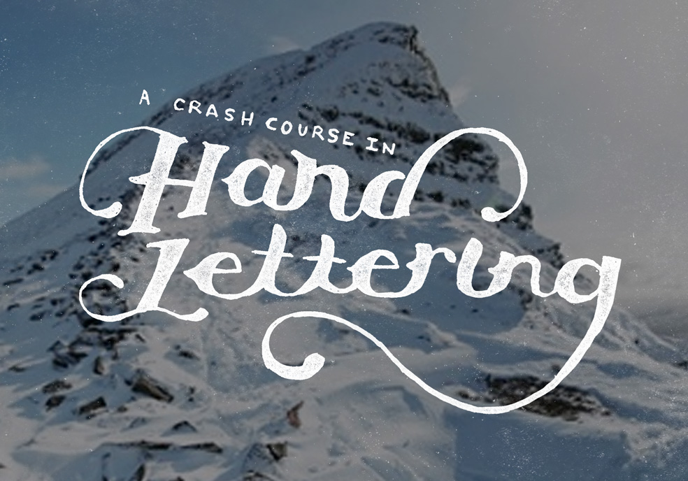 crash course in hand lettering how totools and tips