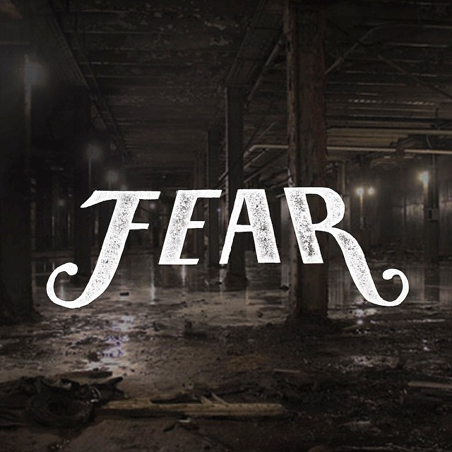 Fear - Hand Lettering. Graphic and Web Design