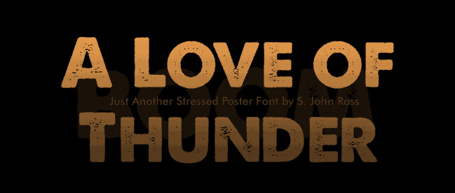 Textured font,  Thick Slab sans-serif font -free download