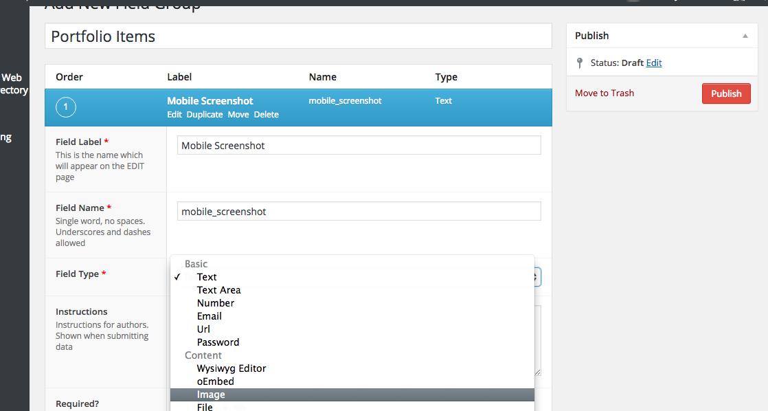 Mobile Screenshot - ACF Advanced Custom Fields for Portfolio Website