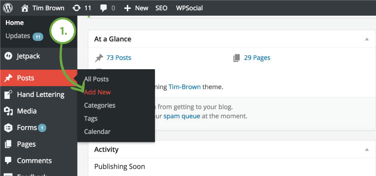 Creating a post - New Post in WordPress - How to Create a new post