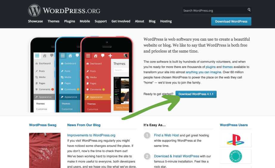 Beginner's guide to WordPress: First Download WordPress