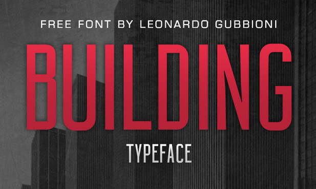 Building Typeface - Free - modern fonts 2015 - the best top font of the year