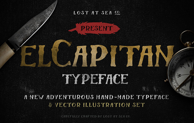 El Capitan - - modern fonts 2015 - the best top font of the year