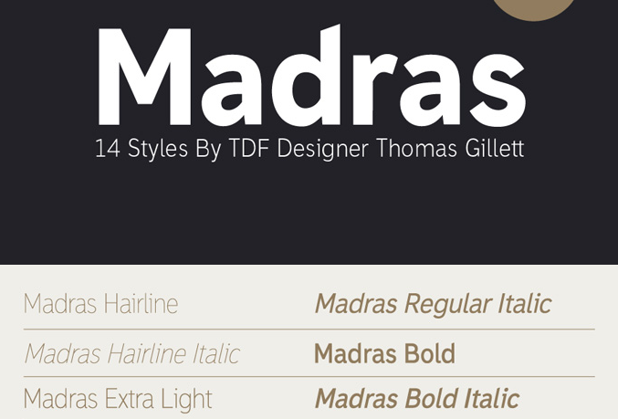 Madras - Free - modern fonts 2015 - the best top font of the year