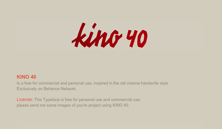 Kino 40 - - modern fonts 2015 - the best top font of the year - Web and Graphic Design