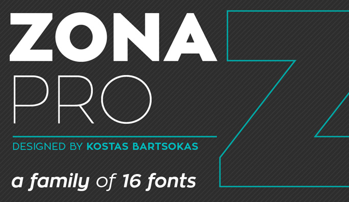 Zona Pro - Free - modern fonts 2015 - the best top font of the year