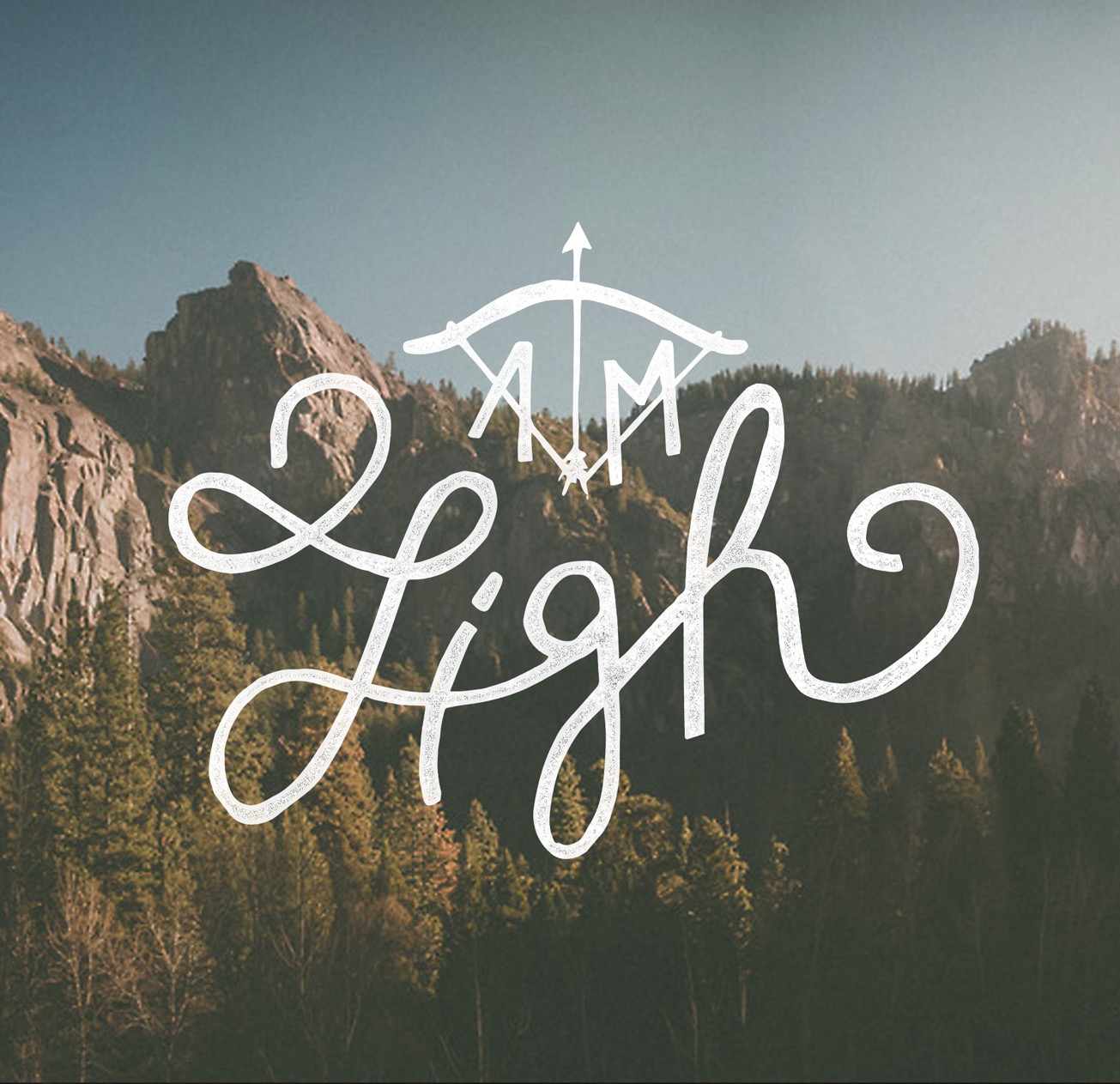 aim high design hand lettering