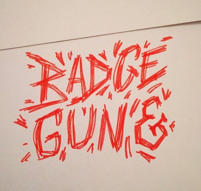 badge and gun - scratch and design
