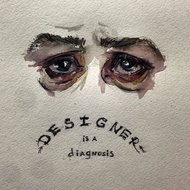 Designer is a diagnosis, painting and texture