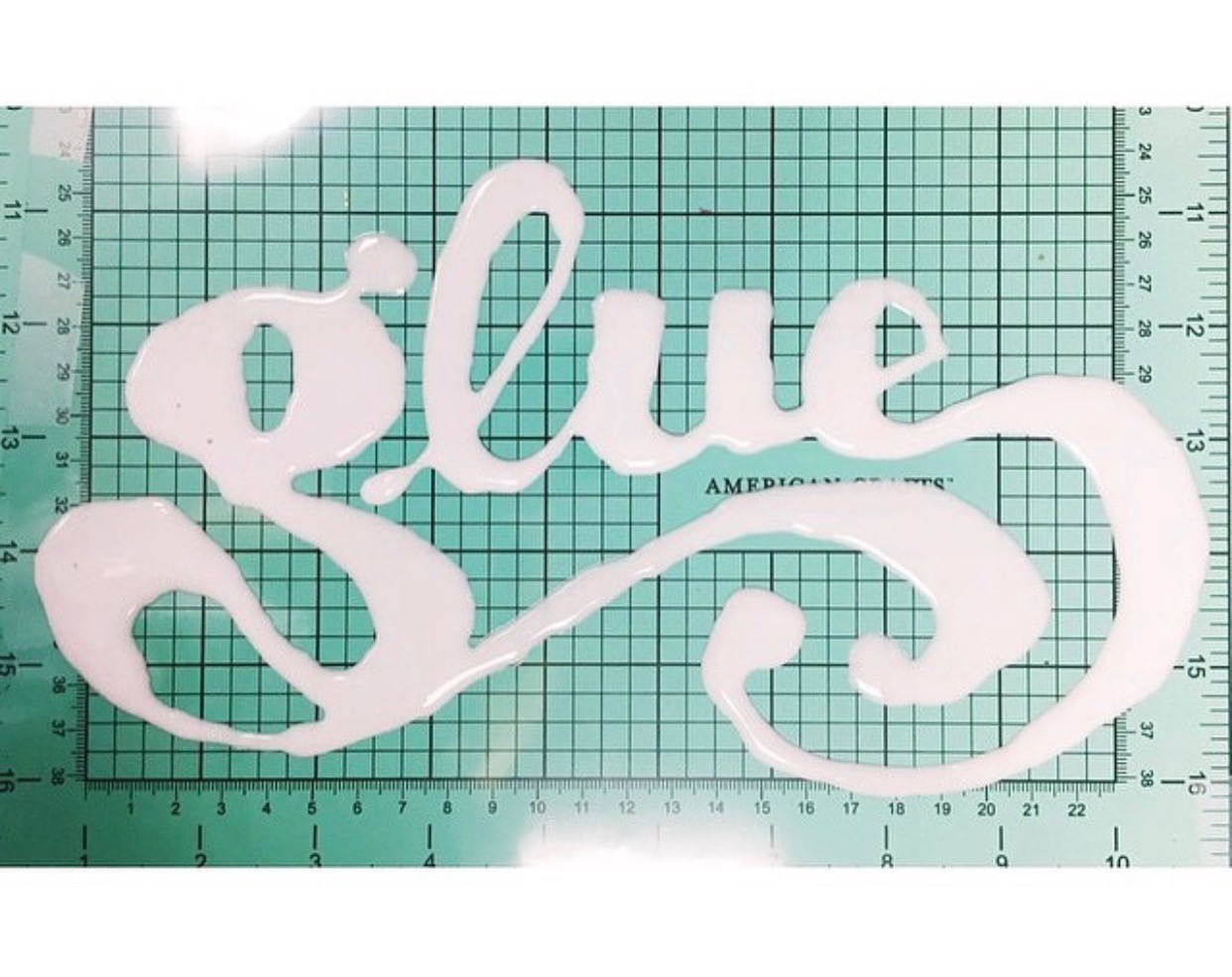 Glue and design, object and food lettering examples
