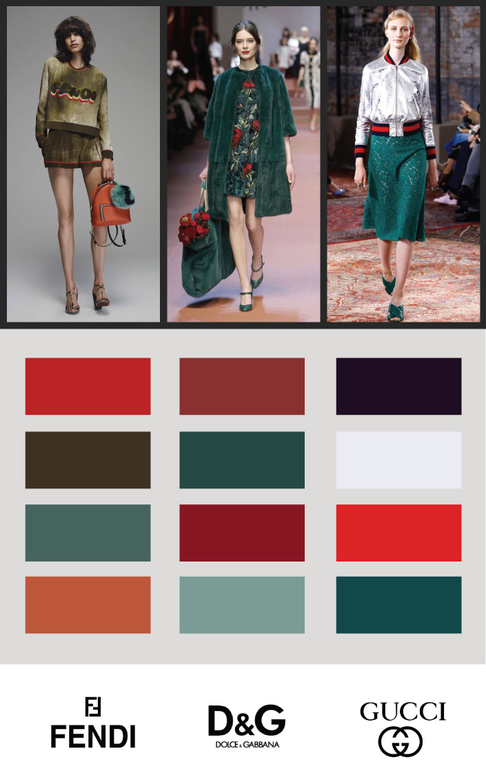Green and Red - Color Forecast for design -fashion colors 2016