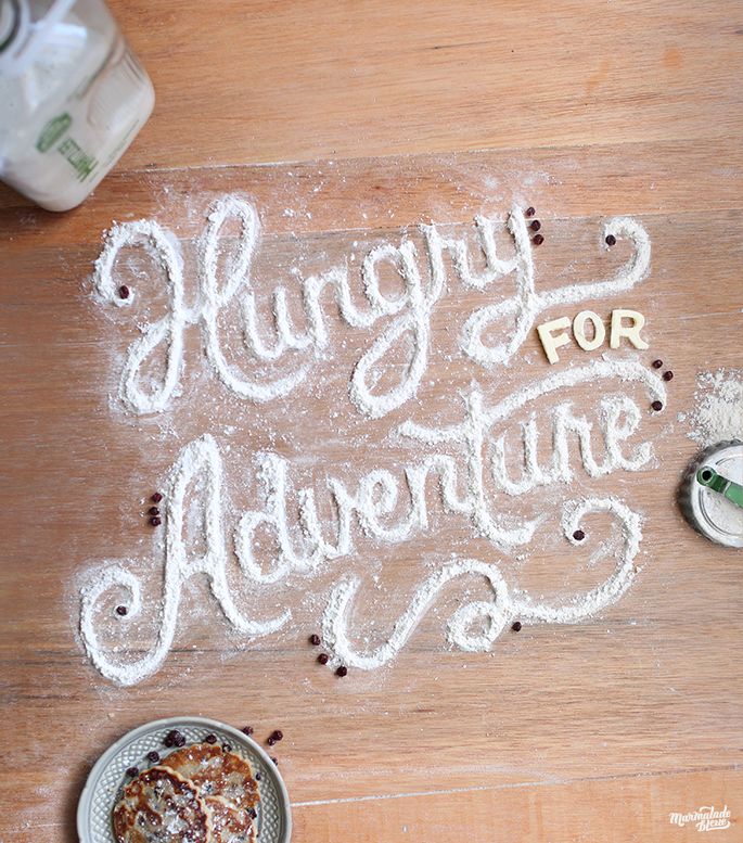 Hungry for Adventure Food lettering, object lettering