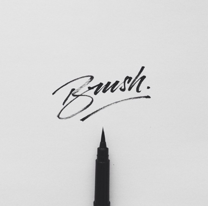 Brush Hand-lettering Design, Things to learn from 100 examples of well-done, bad-ass, hipster hand-lettering.
