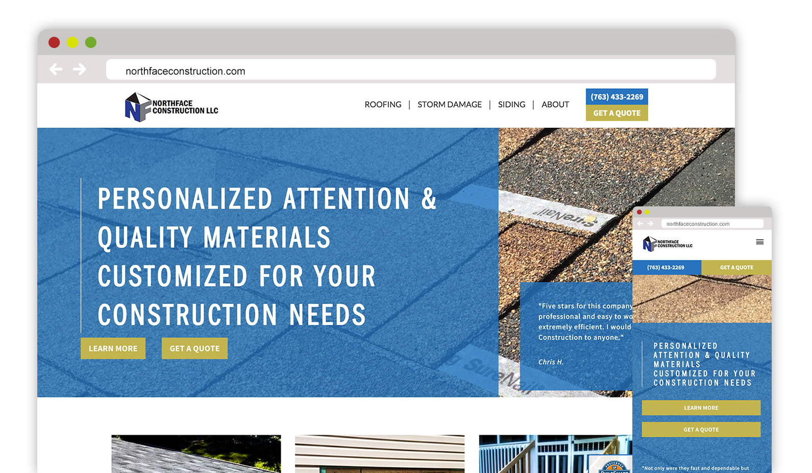 Northface Construction – Web Design / Creative Direction