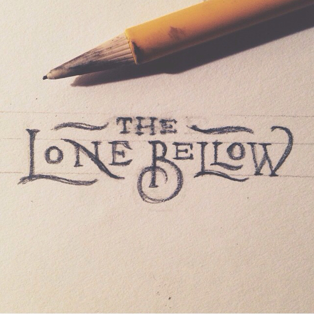 the lone bellow hand lettered n b w amazing examples
