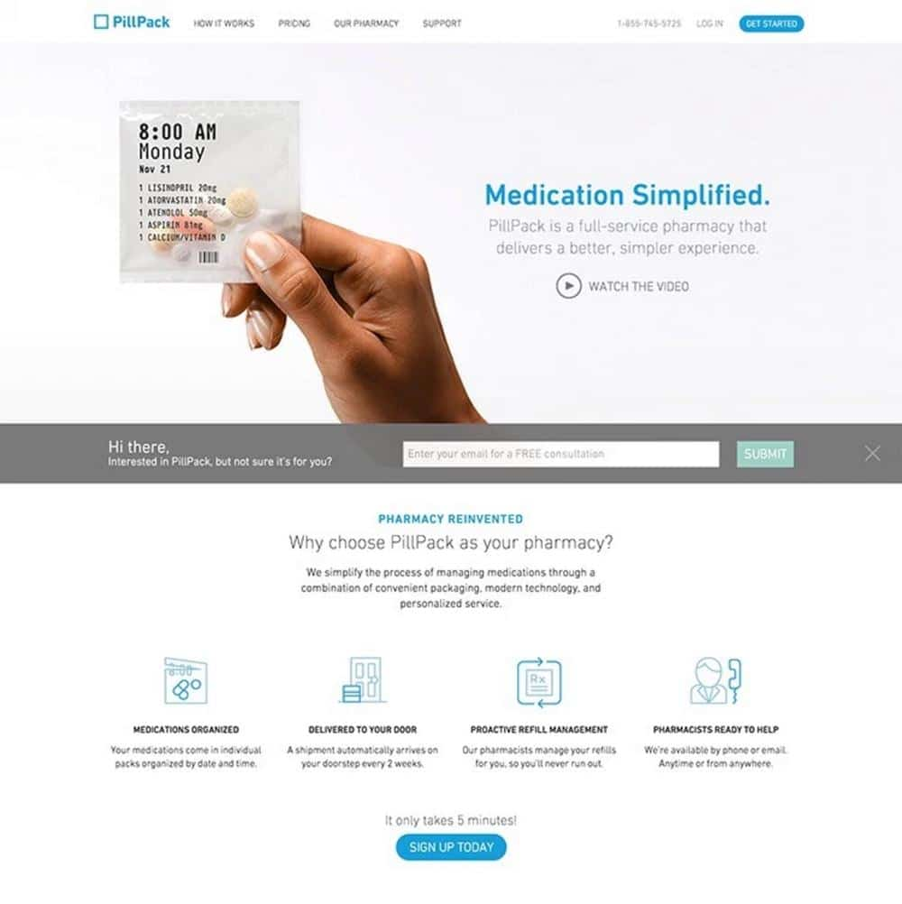 White Space in Web Design, blue and white web design inspiration,