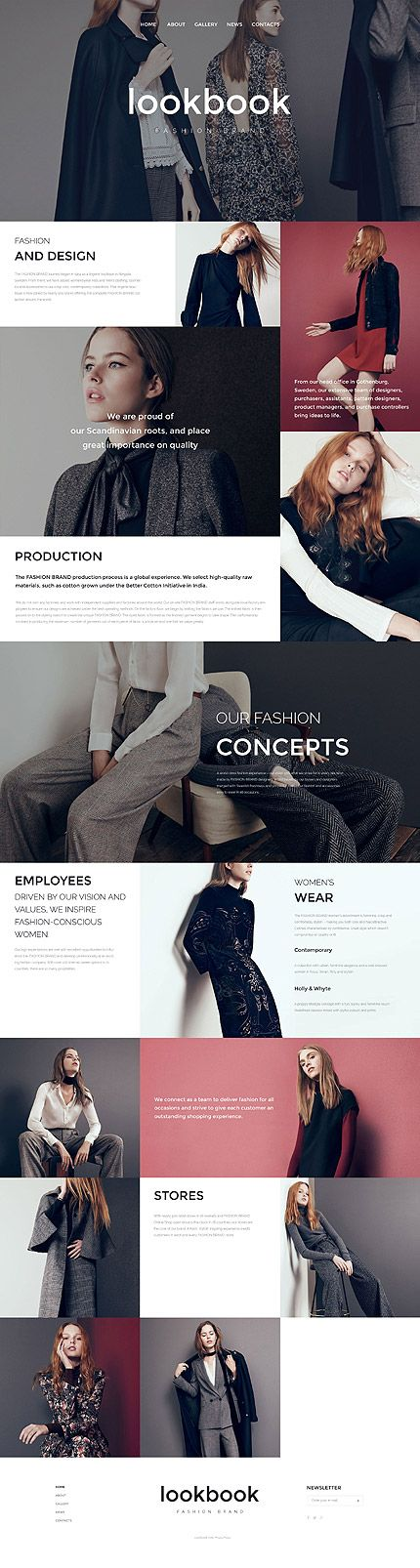 Fashionable Dark Sleek modern color palette for web design