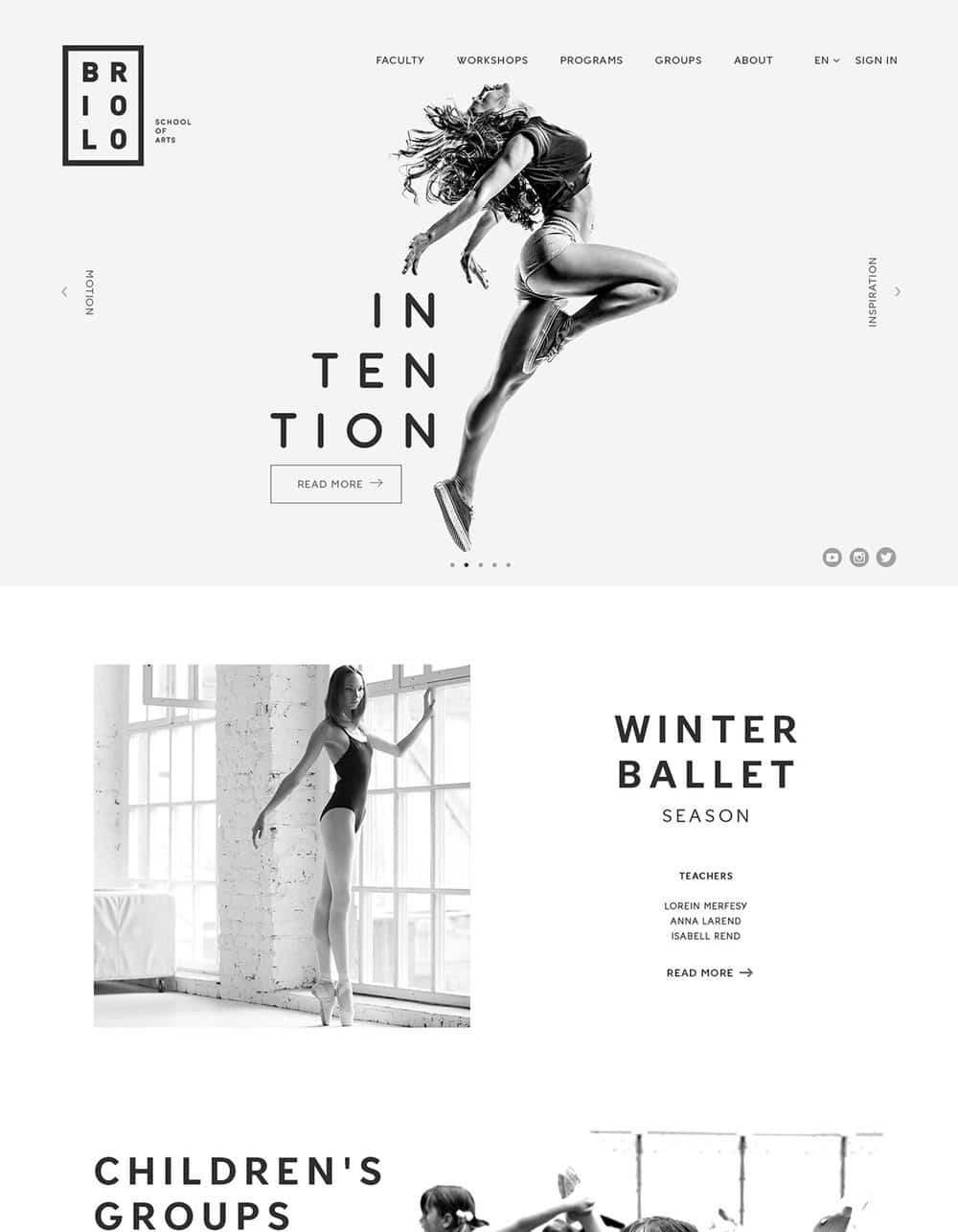 Web Design Inspiration - Black and White and Greyscale designs