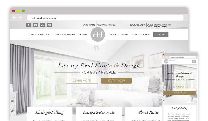 WordPress Minneapolis - Adorned Home Real Estate Web Design and Development