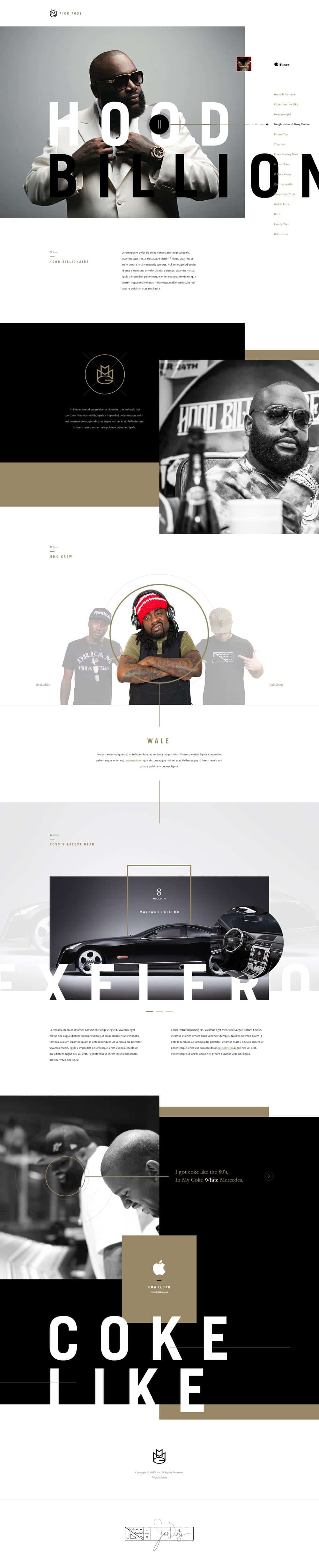Rick Ross - Web Design Centered with two-thirds
