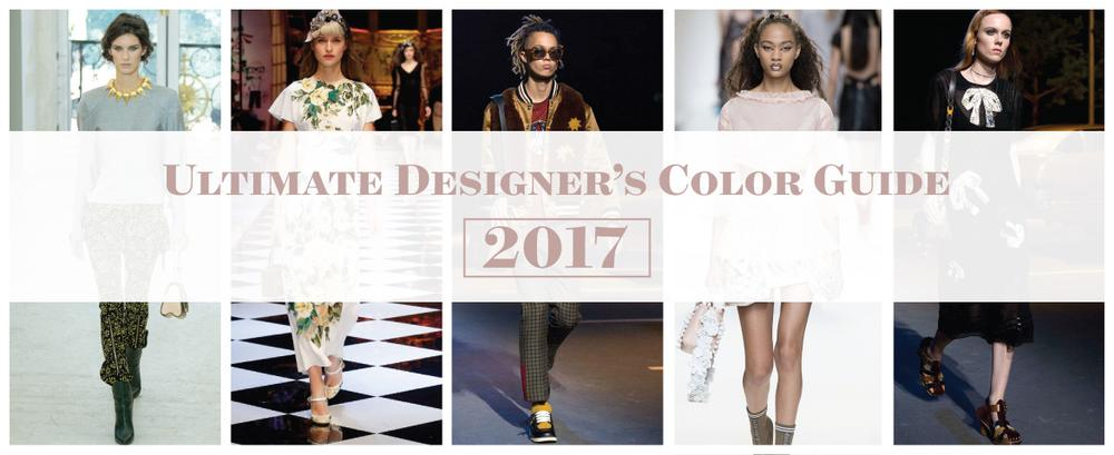 Ultimate Designer's Color Guide for 2017