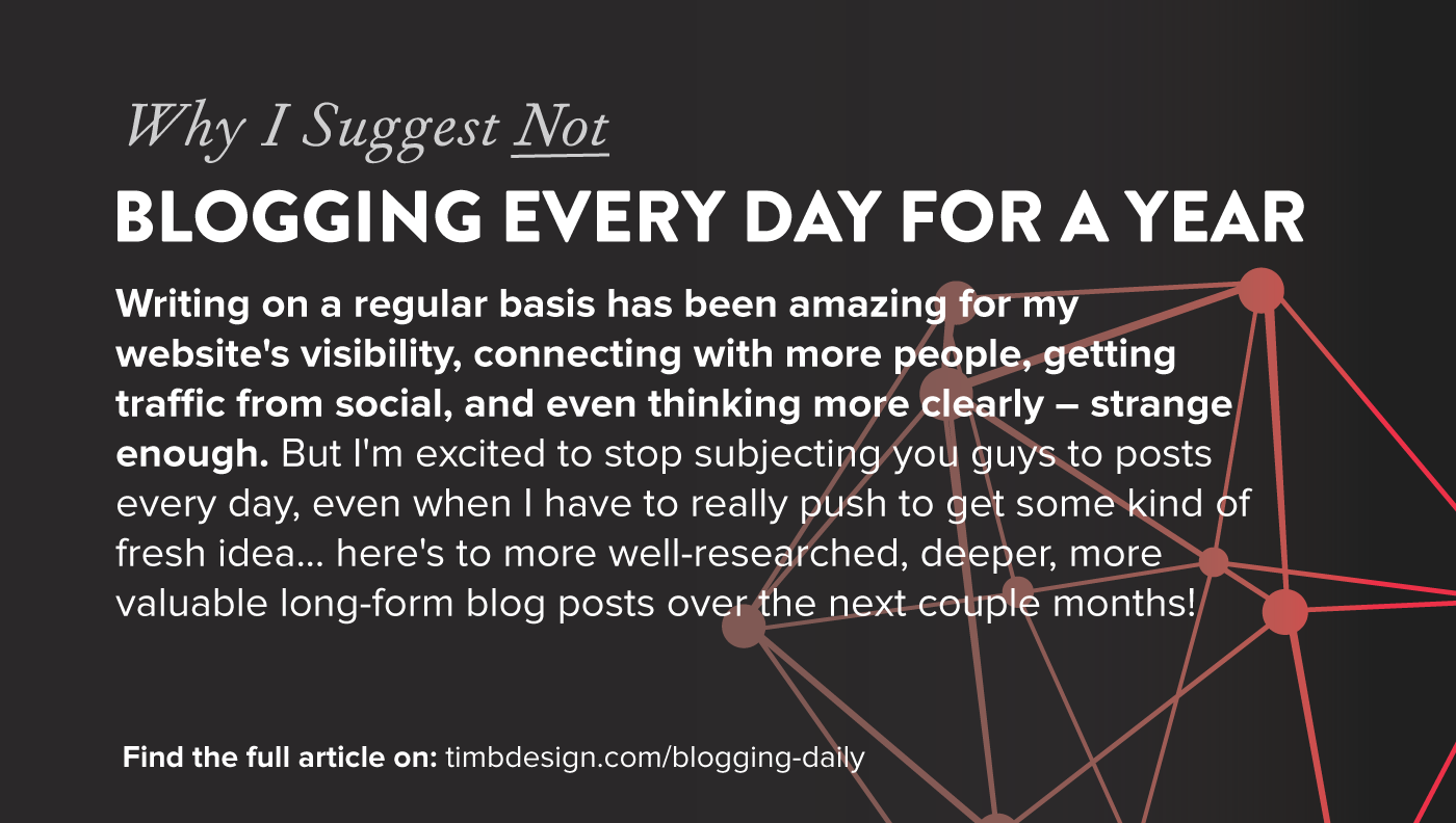 Blogging Every Day for a Year