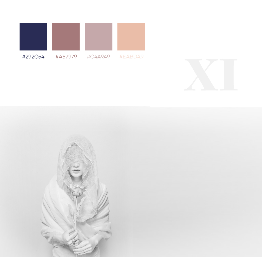 White Pink Blue - Female, Lady, Feminine Color Schemes for designers