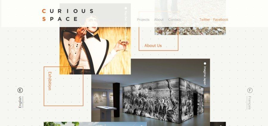 Web Design Trends 2017 - Overlapping Grid Systems