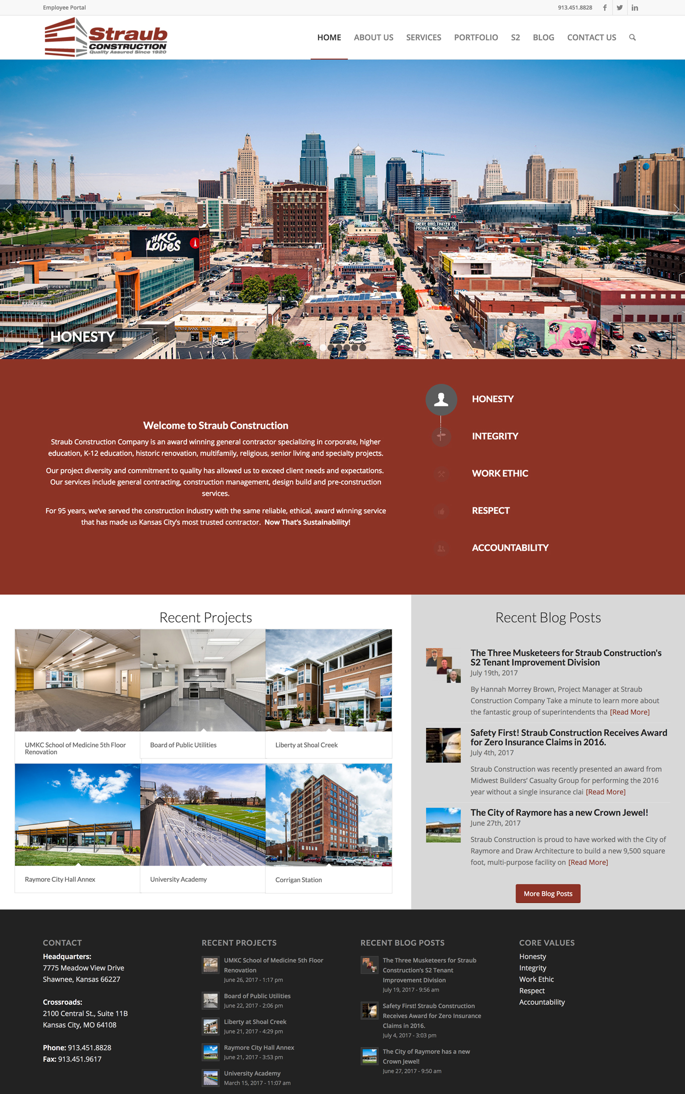 Construction Company Marketing and web design - straub