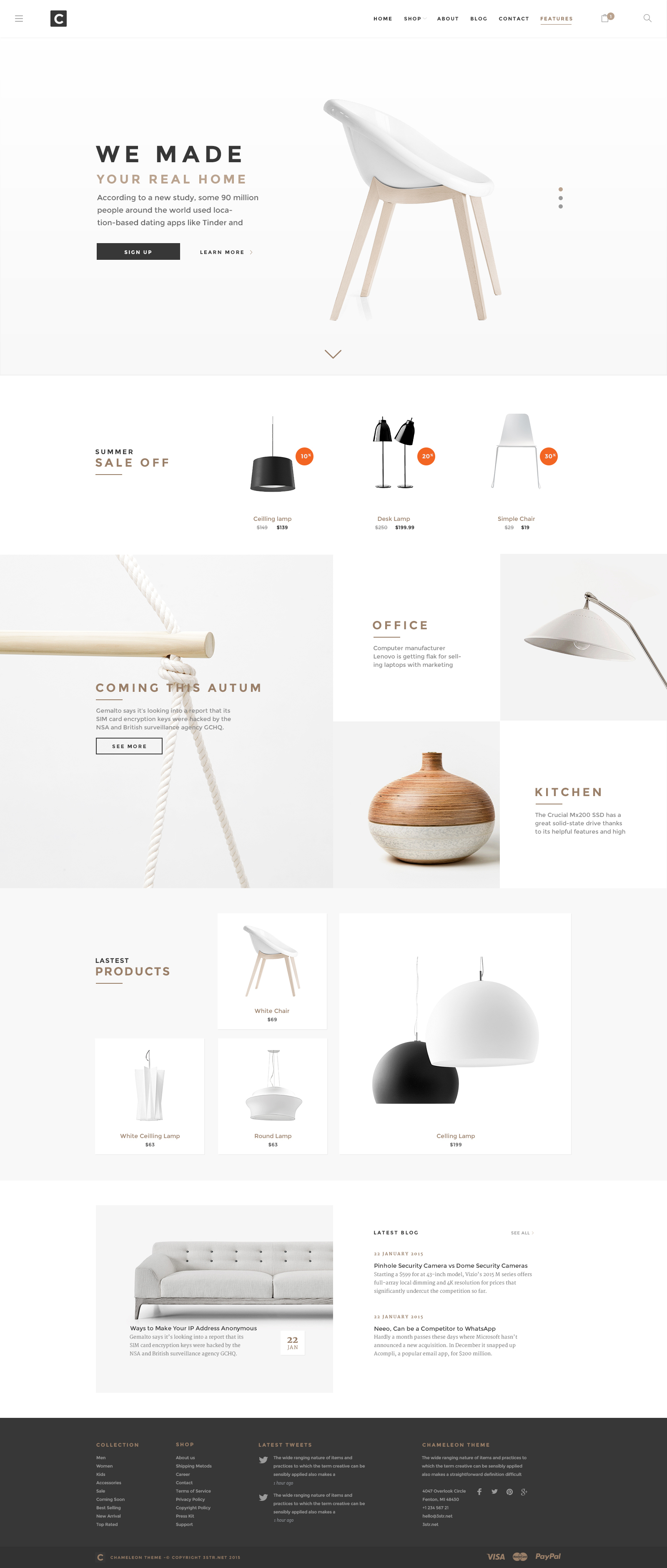 Gold and Whitespace in web design