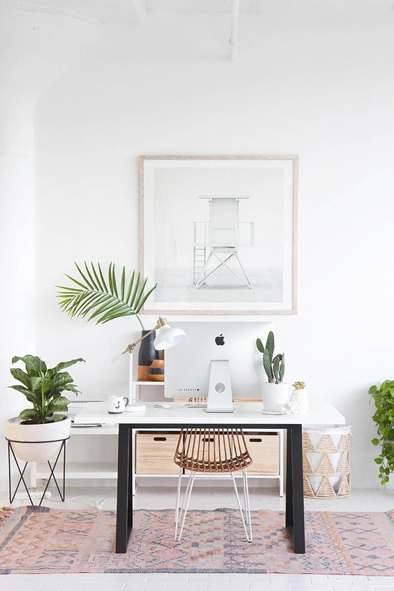 Greenery and white space visual design