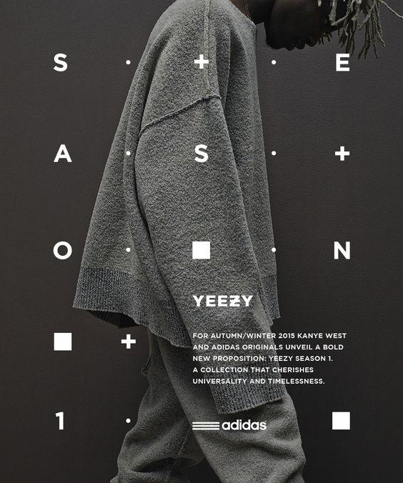 Print Typography - Yeezy style graphic design